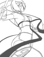 Akali Lineart by Down-The-Stairs