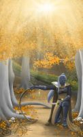 No-Name Drow by WolfenAmphithere