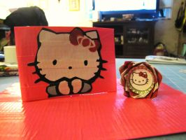 Hello Kitty with matching pen by Fairygirl1031