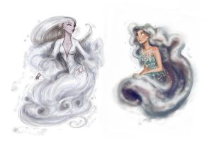 Sky nymphs: Chione and Nephele by Arbetta