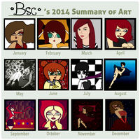 2014 Summary Of Art by BscButterfly