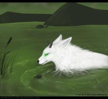 Marsh wolf by ArtemisA-wolf