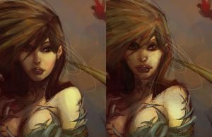 Witchblade close-up process by Alex0wens