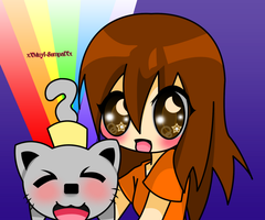 .:Anima and NyanCat:. -HBD- by xXMuyi-SempaiXx