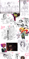SKETCHDUMP #12- WHY AM I STILL MAKING THESe by P-cate