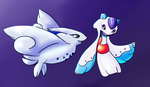 Pkmnation- Hope and Cleo by Skywiz