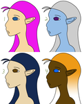 Choose-your-species Headshot Adopts p5 OPEN by CassidyPeterson