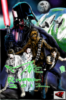 Star Wars (line art by JediMike) by AMProSoft