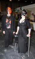 MCM Expo Oct 2014 82 - Deathstroke, catwoman by cosmicnut
