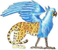 Mesoamerican Griffin by TheSolitarySandpiper