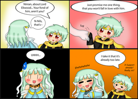 Fire Emblem comic: Nils and Ninian by purplemagechan