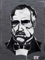 Godfather -mix stencil- by dfmurcia