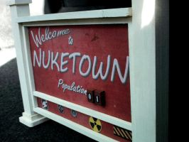 Nuketown Sign Miniature Replica by faustdavenport
