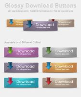 Glossy Download Buttons by Stembimo