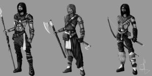 Norse hunters by JuanPuerta