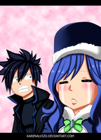Gray and Juvia_Fairy Tail 451 by KarenAlvizo