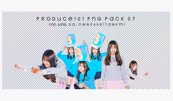 32 / PRODUCE 101 PNG PACK 07 by NWE0408