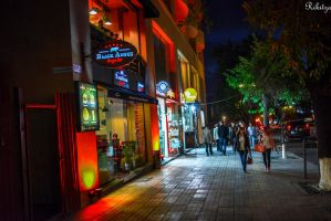 evening promenade Yerevan by Rikitza