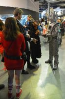 Doctor Who, Clara and Cyberman by masimage