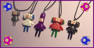 Katamari Cousin Necklaces by Gimmeswords