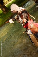 Edward Kenway alone in a Mexican standoff! by eyes1138