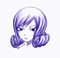 Juvia (ballpoint pen) by Chocogirl3