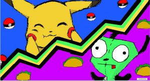 Pika and Gir Clash Mode!! by jessicupcakecracker