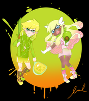 Splatoon Crossover! (Legend of Zelda) by xMurmaid