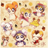 + Hammy Doodles + by Nayobe