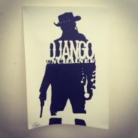 Django Unchained Stencil by Hillbro
