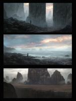 Sketches with rocks by WiredHuman
