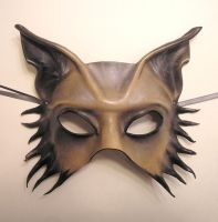 Grey Wolf Dog Half Face Mask by teonova
