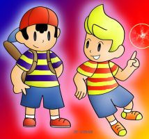 Ness and Lucas by Not-WisqoXD