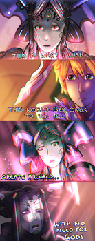 [Xenoblade Spoilers] Scene 133 - Duel of the Gods by giygas-nipples