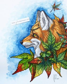 Autumn fox  by JulieOvermann
