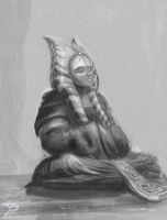 Commish- Shaak Ti meditate by Raikoh-illust