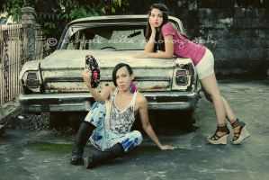 Mich and Kring-Kring by purplebella