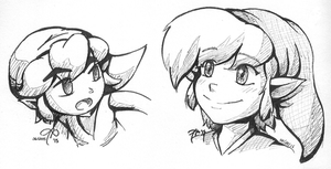 pen practice: Link by Rainmaker113