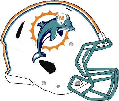 Revolution Speed Dolphins 1997-2012 Helmet by Chenglor55