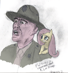 Fluttershy Is Concerned About R. Lee Ermey by Obsequiosity