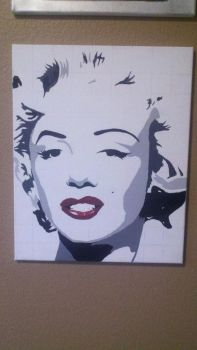 Marilyn Monroe Acrylic Painting by Garysaggese