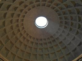 Rome - Pantheon dome by PhilsPictures