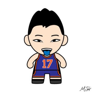 Jeremy Lin (Blue) by meijeanie