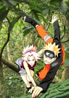naru and saku by Bleach-Fairy