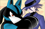 -_Riley and Lucario_- VECTOR by MoonSwann