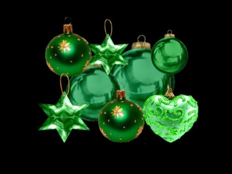 Green Ornaments by puddlz
