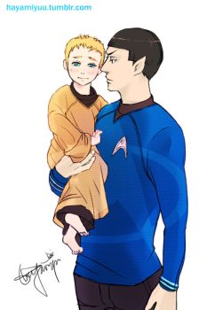 A Little Jim WITH Spock by hayamiyuu