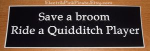 Ridea quidditch player sticker by ElectrikPinkPirate
