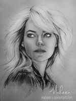 Emma Stone sketch by Maheen-S