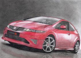 Honda Civic Type-R red by VeVe-350Z